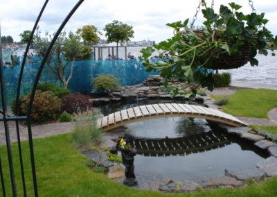 Groen watertuin