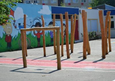 Spelen schoolplein